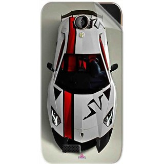 Snooky Printed sports cars and bikes Pvc Vinyl Mobile Skin Sticker For LYF Flame 6