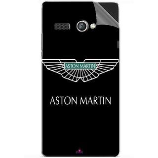 Snooky Printed Aston Martin Pvc Vinyl Mobile Skin Sticker For Lava Flair P1