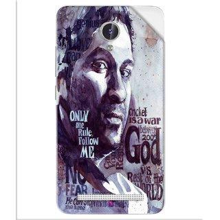 Snooky Printed sachin Tendulkar A tribute Pvc Vinyl Mobile Skin Sticker For Lava Iris Fuel F1