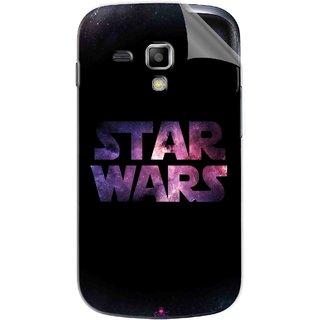 Snooky Printed star wars black Pvc Vinyl Mobile Skin Sticker For Samsung Galaxy S Duos S7562