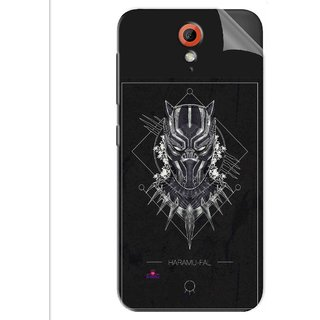 Snooky Printed black panther movie Pvc Vinyl Mobile Skin Sticker For Htc Desire 620