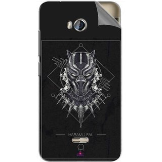 Snooky Printed black panther movie Pvc Vinyl Mobile Skin Sticker For Micromax Bolt Q336