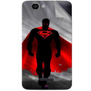 Snooky Printed Super Man Pvc Vinyl Mobile Skin Sticker For Micromax Canvas 2 A120