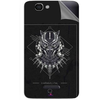 Snooky Printed black panther movie Pvc Vinyl Mobile Skin Sticker For Micromax Canvas 2 A120