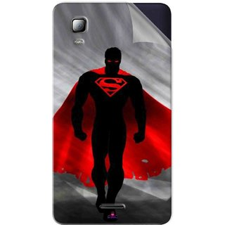 Snooky Printed Super Man Pvc Vinyl Mobile Skin Sticker For Micromax Canvas Doodle 3 A102