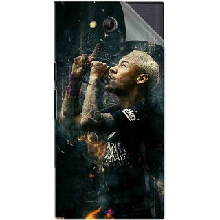 Snooky Printed The Magician  Neymar FootBall Pvc Vinyl Mobile Skin Sticker For LYF Wind 4