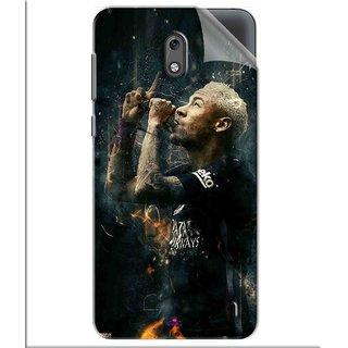 Snooky Printed The Magician  Neymar FootBall Pvc Vinyl Mobile Skin Sticker For Nokia 2
