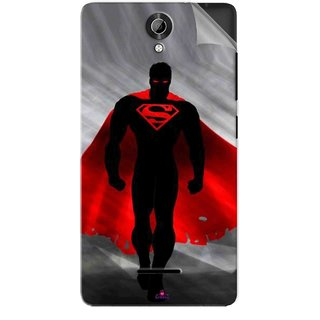 Snooky Printed Super Man Pvc Vinyl Mobile Skin Sticker For Micromax Bolt Q332