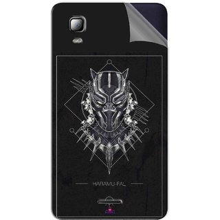 Snooky Printed black panther movie Pvc Vinyl Mobile Skin Sticker For Micromax Canvas Doodle 3 A102