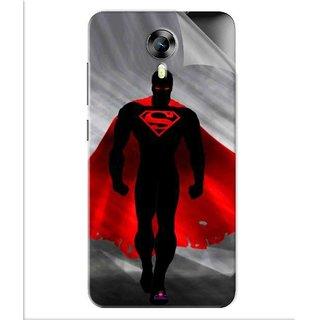 Snooky Printed Super Man Pvc Vinyl Mobile Skin Sticker For Micromax Canvas Express 2 E313