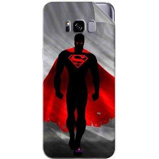 Snooky Printed Super Man Pvc Vinyl Mobile Skin Sticker For Samsung Galaxy S8 Plus