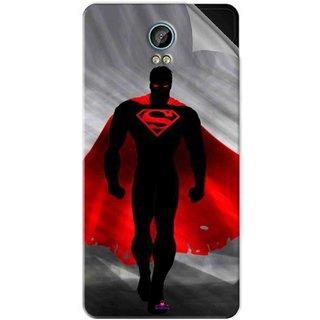 Snooky Printed Super Man Pvc Vinyl Mobile Skin Sticker For Intex Aqua Life 2