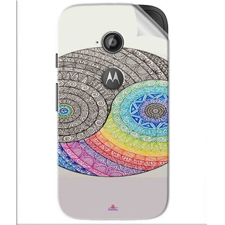 Snooky Printed Traditional Yin Yang Pvc Vinyl Mobile Skin Sticker For Motorola Moto E2