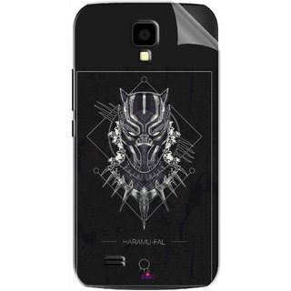 Snooky Printed black panther movie Pvc Vinyl Mobile Skin Sticker For Gionee Pioneer P2S