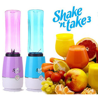 Shake N Take Fruit Juicer Blender Premium Quality Blender and Mixer for Juices, Shakes and Smoothies (Multicolor)