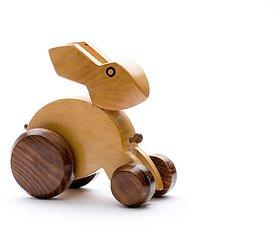BuzyKart Classic Wooden Rabbit Toy Cum Showpiece