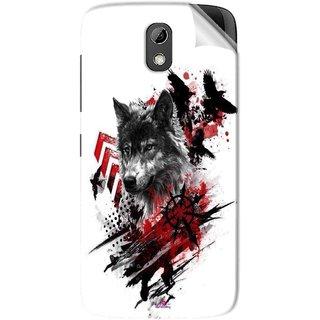 Snooky Printed wolf polka trash Pvc Vinyl Mobile Skin Sticker For HTC Desire 526