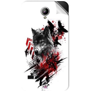 Snooky Printed wolf polka trash Pvc Vinyl Mobile Skin Sticker For LYF Flame 2