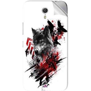 Snooky Printed wolf polka trash Pvc Vinyl Mobile Skin Sticker For Lenovo Zuk Z1
