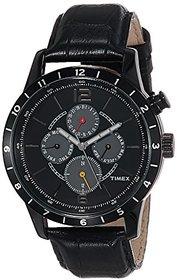 Timex Quartz Black Dial Mens Watch-TWEG14802
