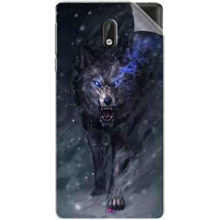 Snooky Printed Wolf Spirit Animal Pvc Vinyl Mobile Skin Sticker For Nokia 3