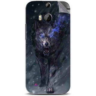 Snooky Printed Wolf Spirit Animal Pvc Vinyl Mobile Skin Sticker For Htc One M8
