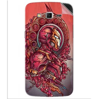 Snooky Printed Vintage Iron Man Pvc Vinyl Mobile Skin Sticker For Samsung Galaxy Grand 2