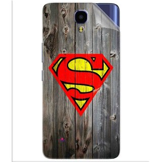 Snooky Printed Wood Super man Pvc Vinyl Mobile Skin Sticker For Infinix Note 4