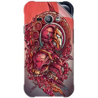 Snooky Printed Vintage Iron Man Pvc Vinyl Mobile Skin Sticker For Samsung Galaxy Ace J1