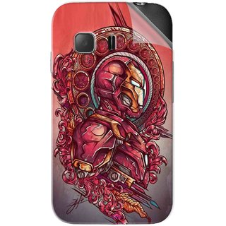 Snooky Printed Vintage Iron Man Pvc Vinyl Mobile Skin Sticker For Samsung Galaxy Young 2