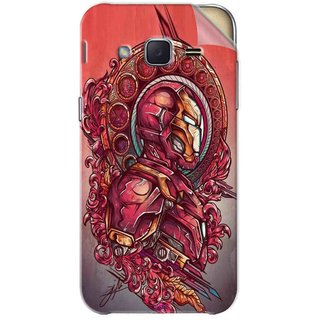 Snooky Printed Vintage Iron Man Pvc Vinyl Mobile Skin Sticker For Samsung Galaxy j2