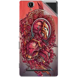 Snooky Printed Vintage Iron Man Pvc Vinyl Mobile Skin Sticker For Sony Xperia T2 Ultra