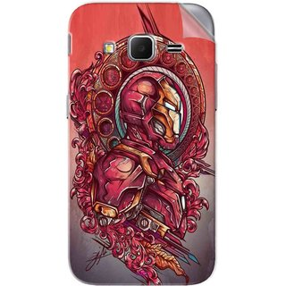 Snooky Printed Vintage Iron Man Pvc Vinyl Mobile Skin Sticker For Samsung Galaxy Core Prime