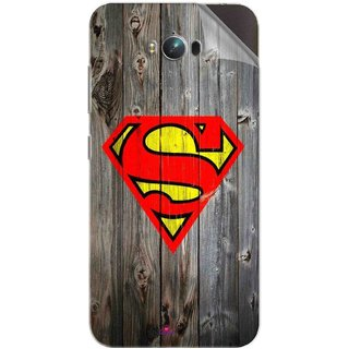 Snooky Printed Wood Super man Pvc Vinyl Mobile Skin Sticker For Asus Zenfone Max