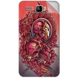 Snooky Printed Vintage Iron Man Pvc Vinyl Mobile Skin Sticker For Intex Aqua R3 Plus