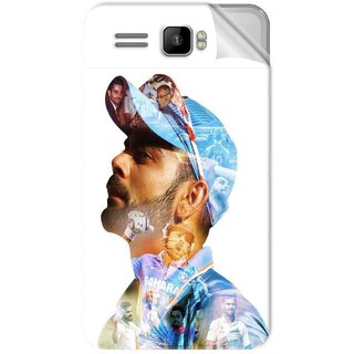 Snooky Printed virat kohli Pvc Vinyl Mobile Skin Sticker For Intex Aqua R3 Plus