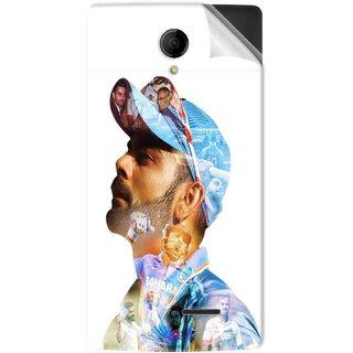 Snooky Printed virat kohli Pvc Vinyl Mobile Skin Sticker For Intex Aqua Wing