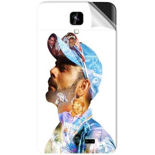 Snooky Printed virat kohli Pvc Vinyl Mobile Skin Sticker For Intex Aqua Y2 1G