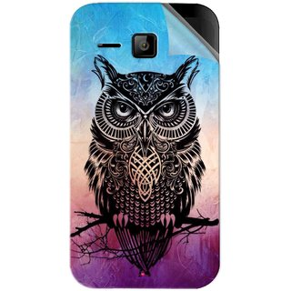 Snooky Printed warrior owl Pvc Vinyl Mobile Skin Sticker For Micromax Bolt S301