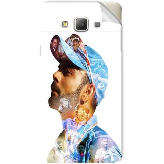 Snooky Printed virat kohli Pvc Vinyl Mobile Skin Sticker For Samsung Galaxy E5