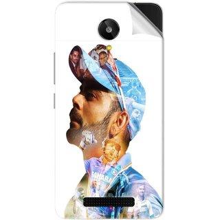 Snooky Printed virat kohli Pvc Vinyl Mobile Skin Sticker For Lava Iris X1 Selfie