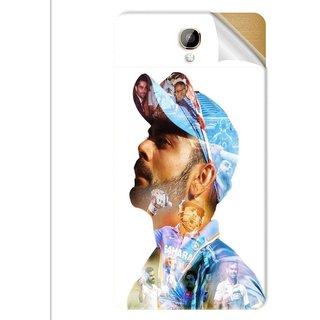 Snooky Printed virat kohli Pvc Vinyl Mobile Skin Sticker For Intex Aqua Dream 2