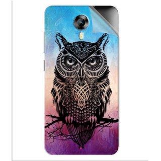 Snooky Printed warrior owl Pvc Vinyl Mobile Skin Sticker For Micromax Canvas Express 2 E313