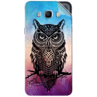 Snooky Printed warrior owl Pvc Vinyl Mobile Skin Sticker For Samsung Galaxy On8