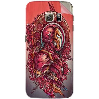 Snooky Printed Vintage Iron Man Pvc Vinyl Mobile Skin Sticker For Samsung Galaxy S6 Edge