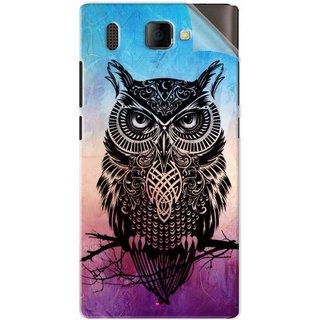 Snooky Printed warrior owl Pvc Vinyl Mobile Skin Sticker For Panasonic P66 Mega
