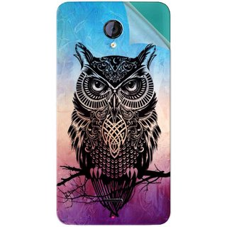 Snooky Printed warrior owl Pvc Vinyl Mobile Skin Sticker For Micromax Canvas Unite 2