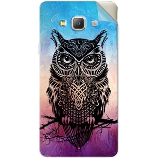 Snooky Printed warrior owl Pvc Vinyl Mobile Skin Sticker For Samsung Galaxy A7