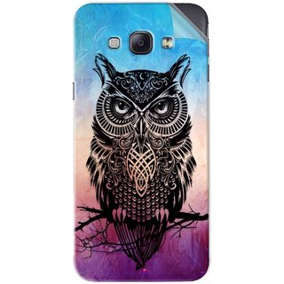Snooky Printed warrior owl Pvc Vinyl Mobile Skin Sticker For Samsung Galaxy A8