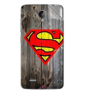 Snooky Printed Wood Super man Pvc Vinyl Mobile Skin Sticker For Vivo Y22